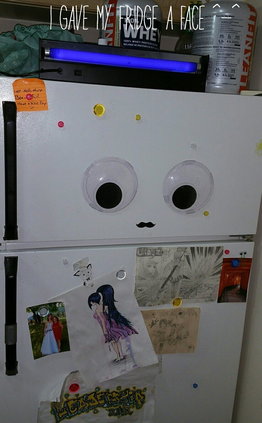 My fridge needed some personality - meme