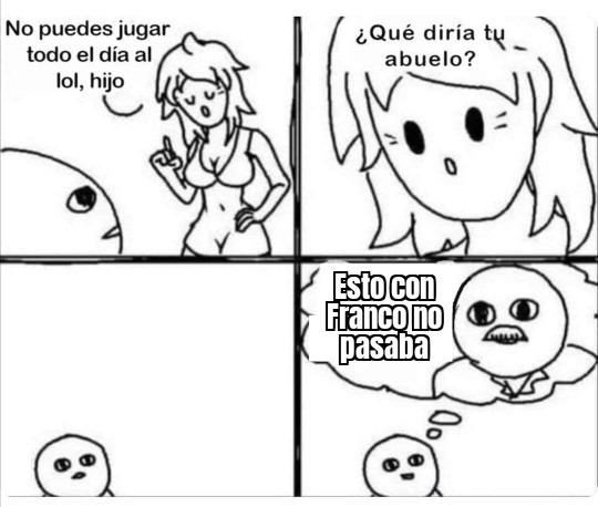 Cualquier abuelo español be like - meme
