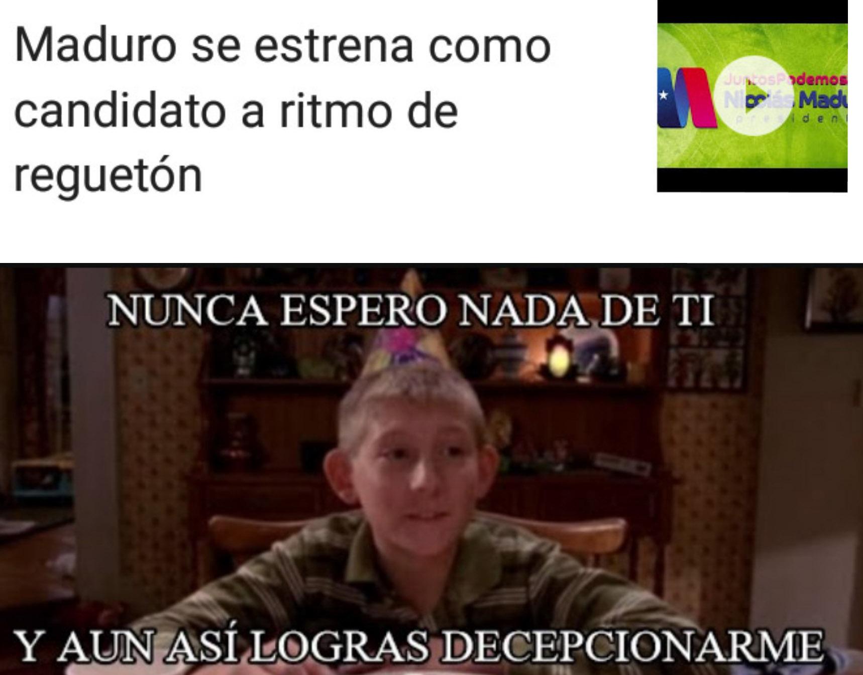 Maduro no podia caer mas bajo - meme