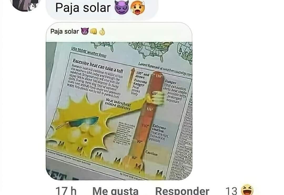 paja solar  - meme