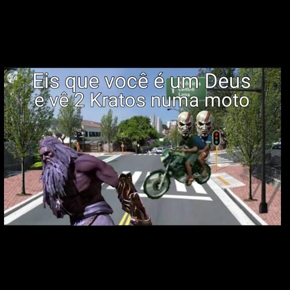 Kratos na moto - meme
