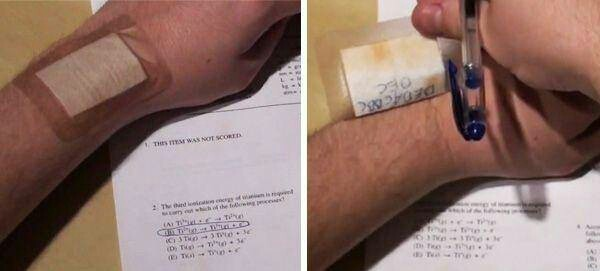 Need to cheat? Use a band-aid. Good luck on your midterms and finals you guys - meme