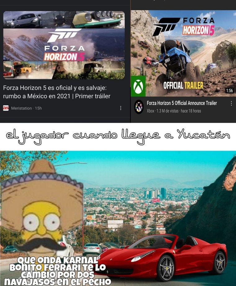 Mexichango horizon 5 - meme