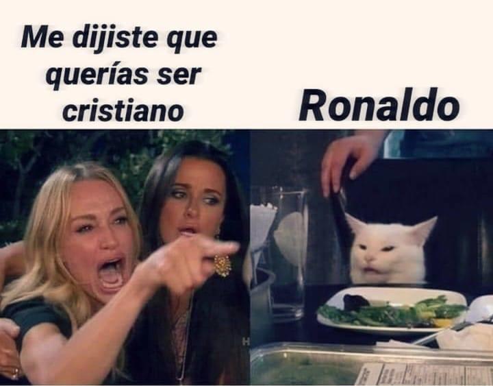 Cristiano...........Ronaldo - meme