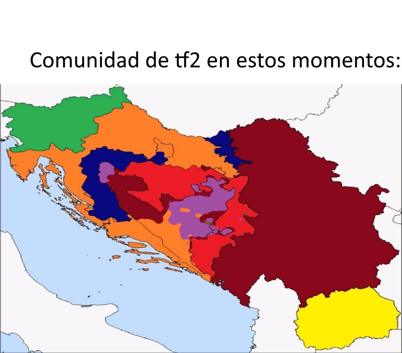 Para lo que no entiendan la imagen. se trata un mapa de la guerra de yugoslavia. - meme