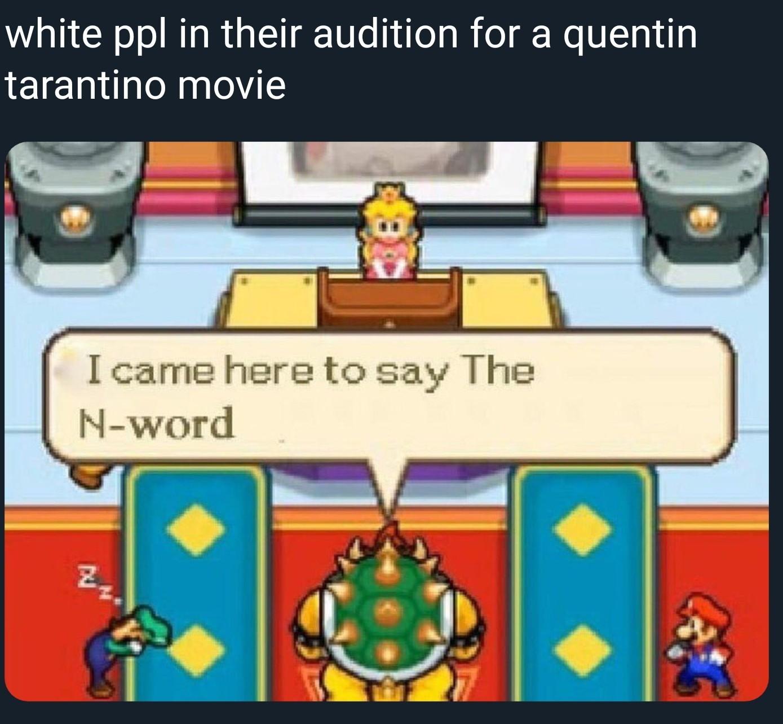 Mario gonna square up - meme