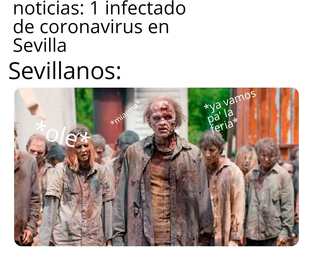 Sevillanos en poco tiempo. - meme