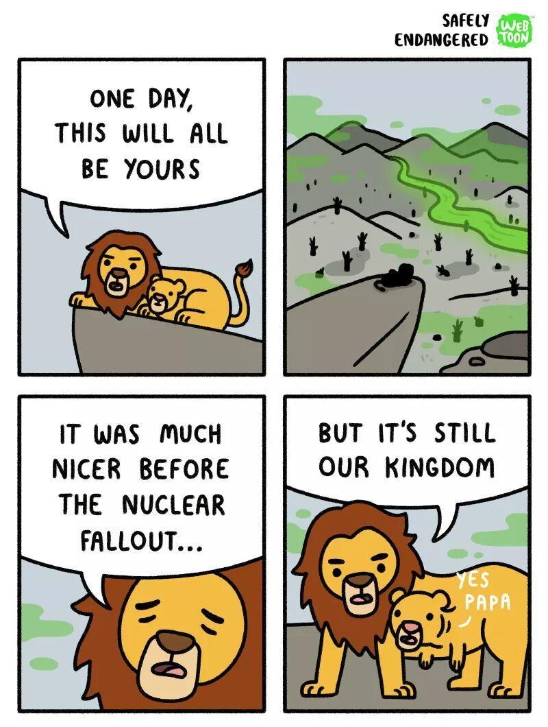 fallout lion - meme