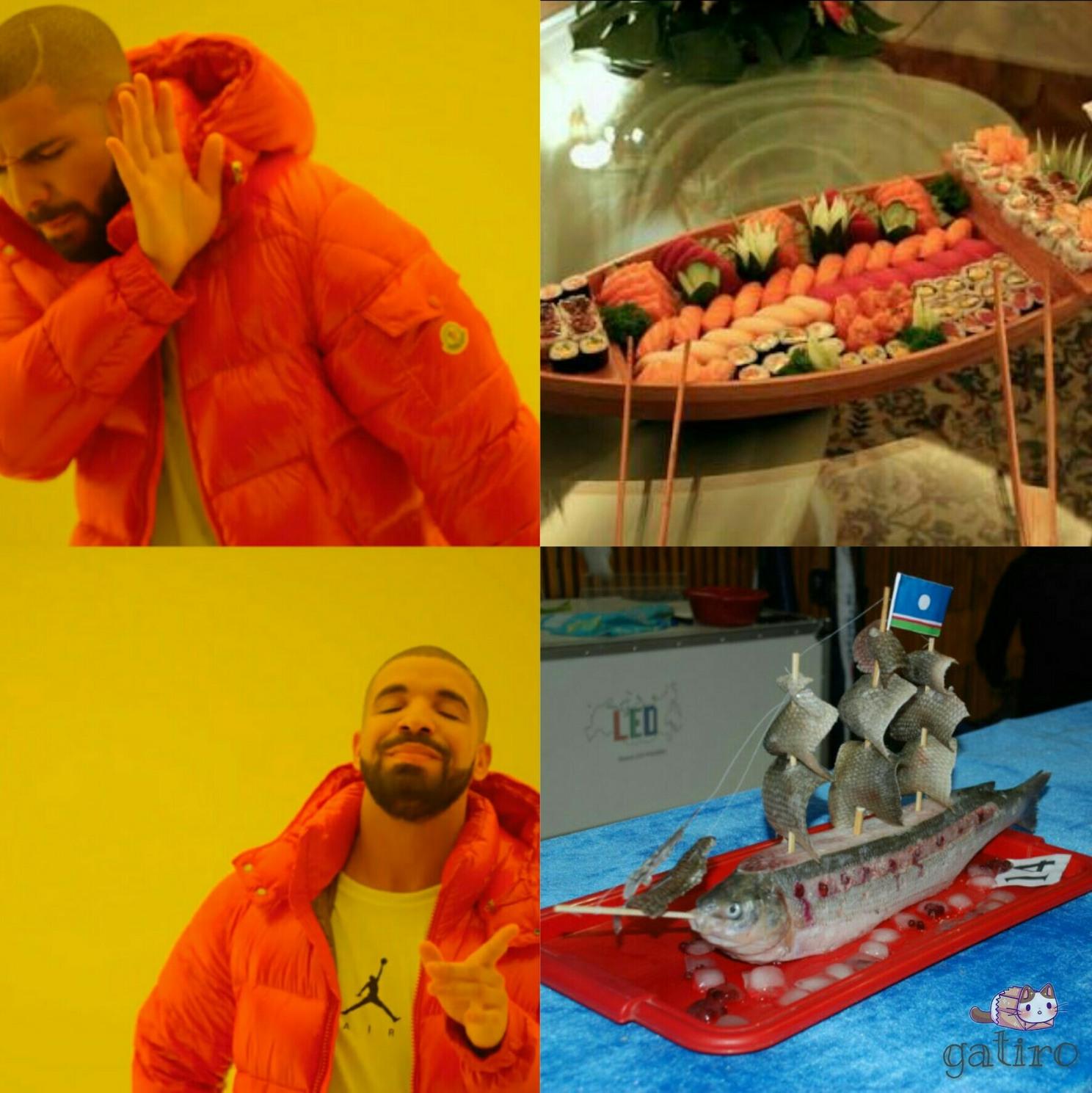 Verdadeiro barco sushi - meme