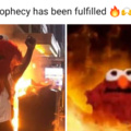 The profecy has been fulfilled