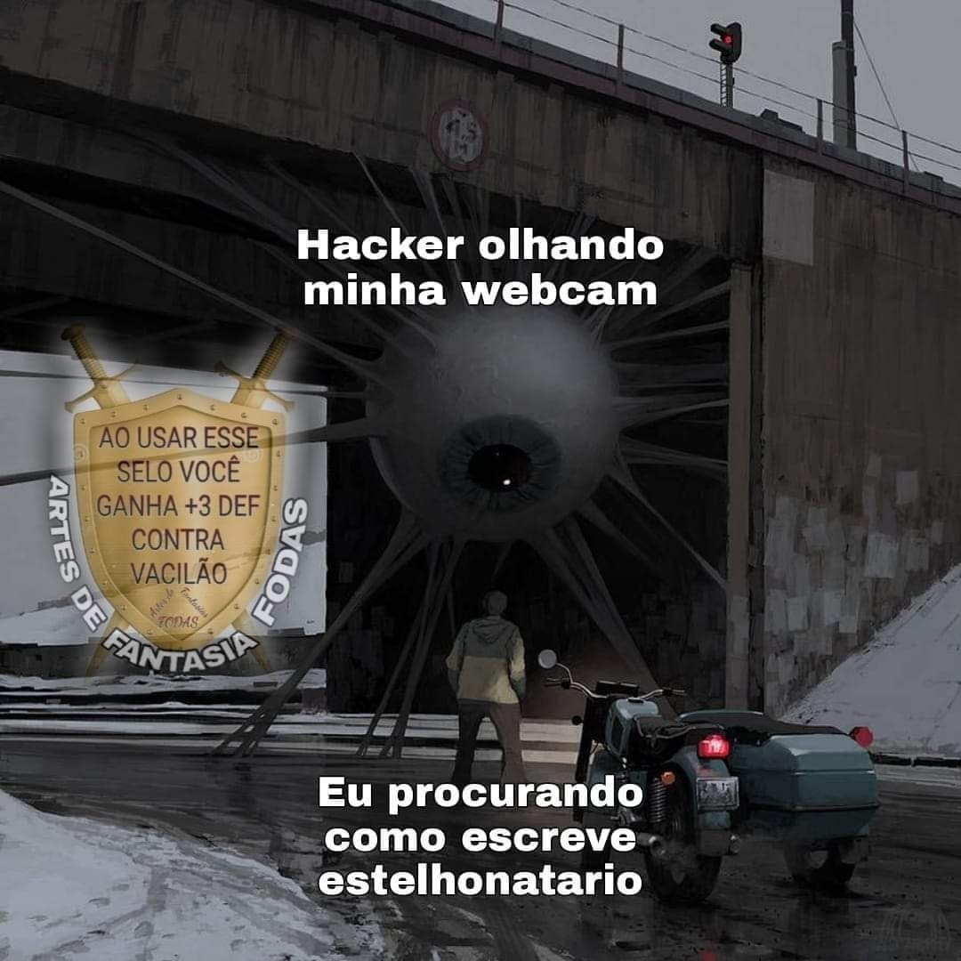 Fita crepe colada na webcam fodasse - meme