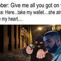 A self made Drake meme