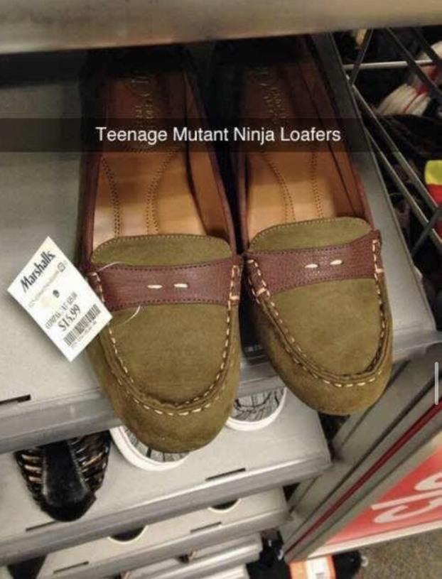 Teenage mutant ninja loafers! - meme
