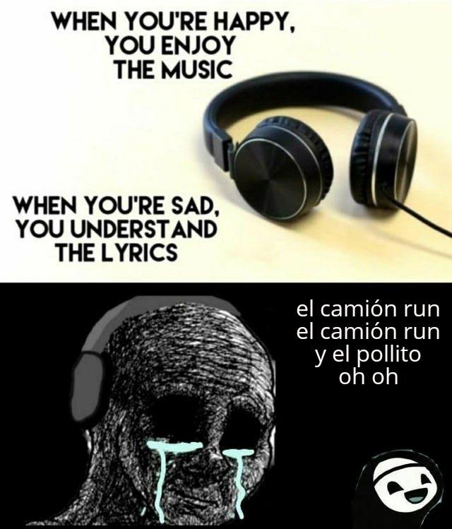 Dijieron que en la tercera canción dime lo iba a follar el tractor - meme