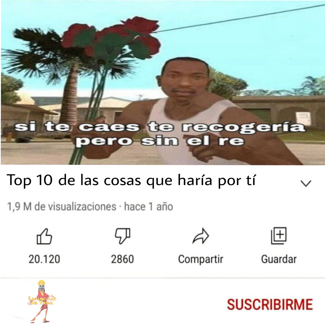 Lo más visto en Youtube - meme