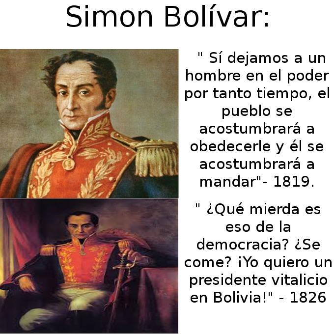 Bolívar a veces era un hombre de contradicciones :/ . - meme