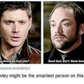 "Spn logic, when demon says ""good god"""