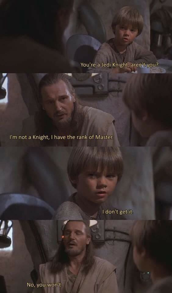 How can you be on the council and not be a master?! - meme