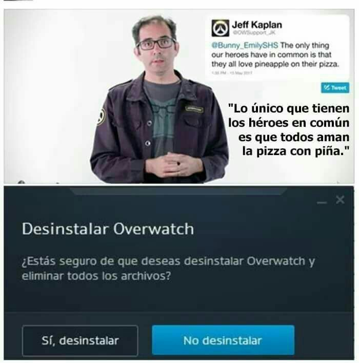 Me pierdes, Overwatch... - meme