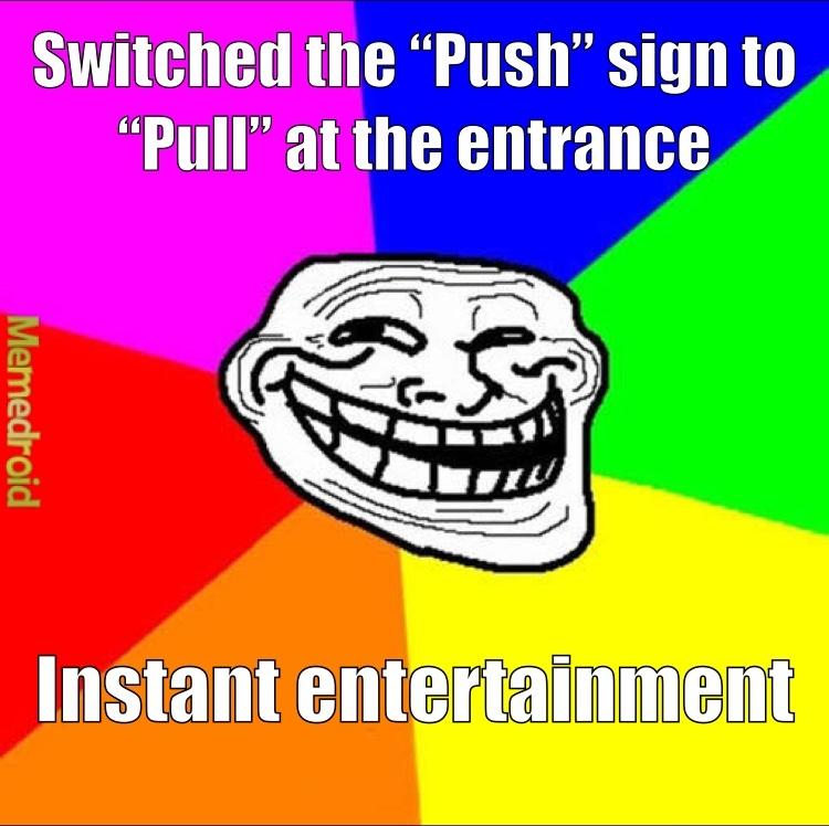 keep pulling! it gets stuck sometimes - meme