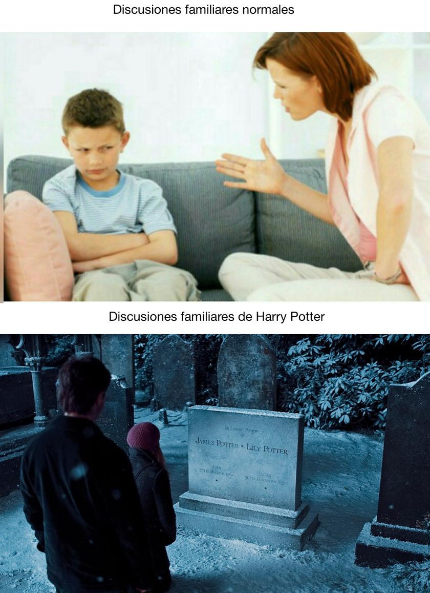 Discusiones familiares - meme