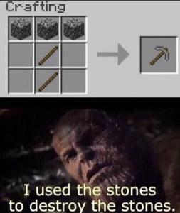 infinito pedra - meme