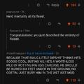 Reddit man....