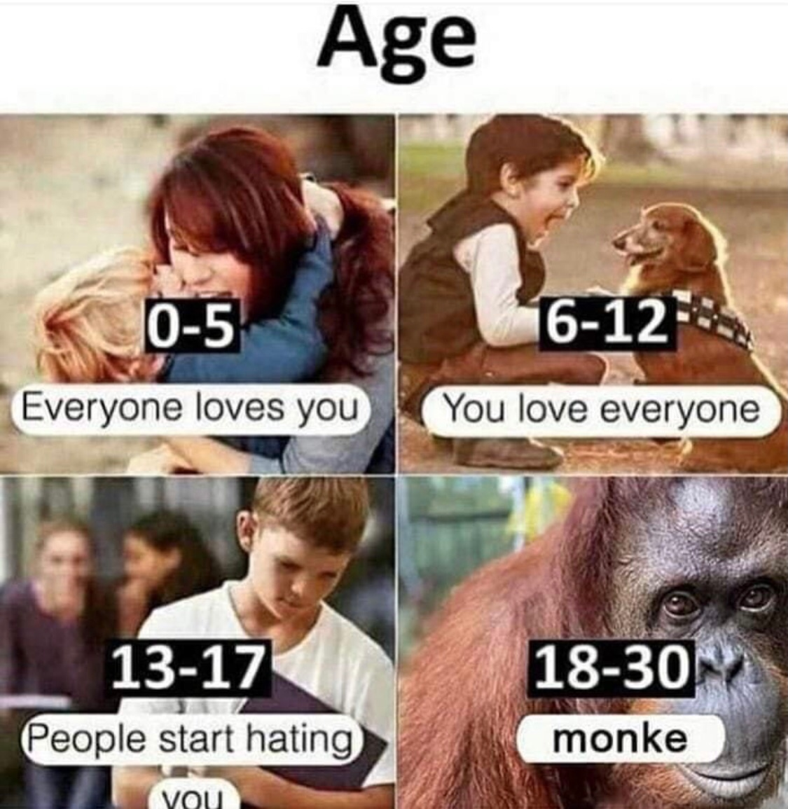 I hope you have accepted the monke lifestyle - meme