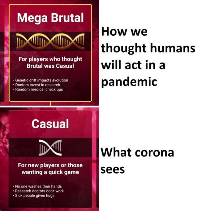 How we act in a pandemic - meme