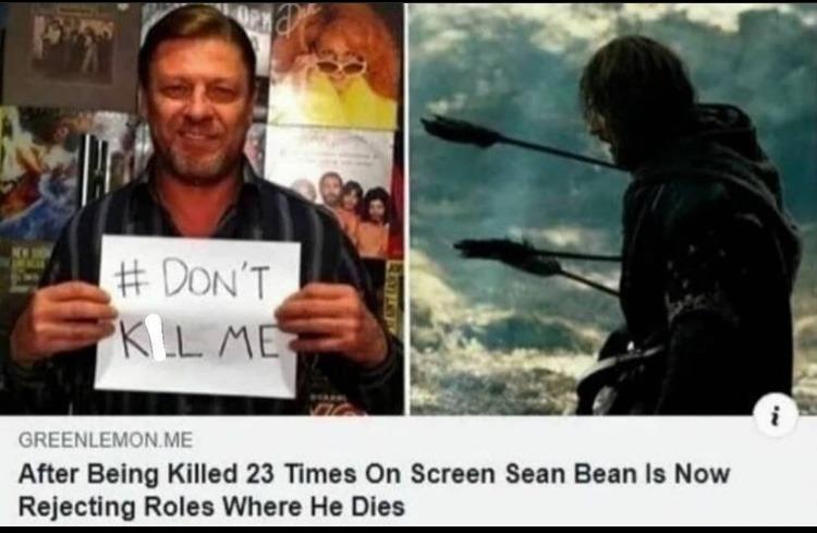 good for you Sean bean - meme
