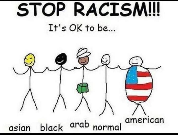 racismo é errado pare - meme