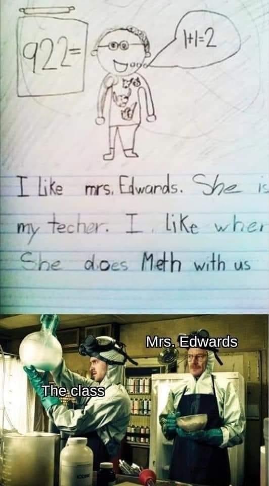 What a caring teacher! - meme