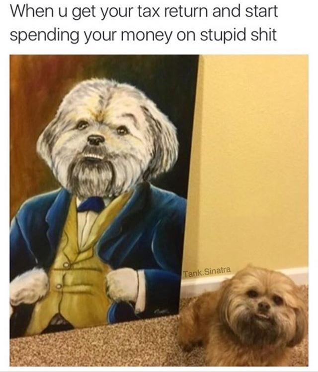 he looks happy - meme
