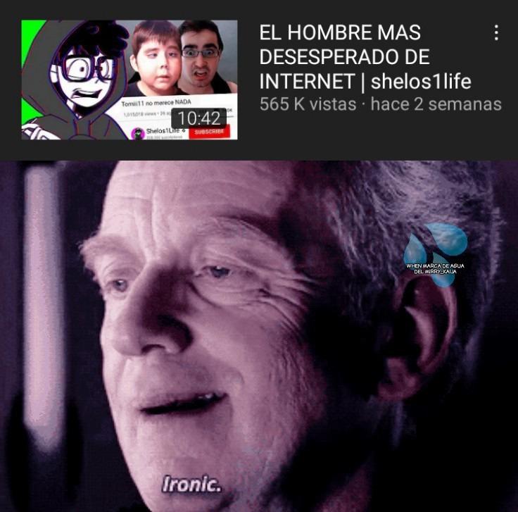 Youtuber generico klo de paso es fome - meme