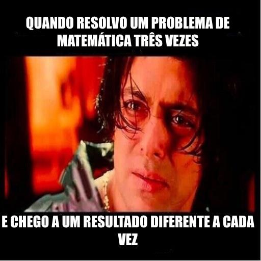 pq fais iço matemática? - meme