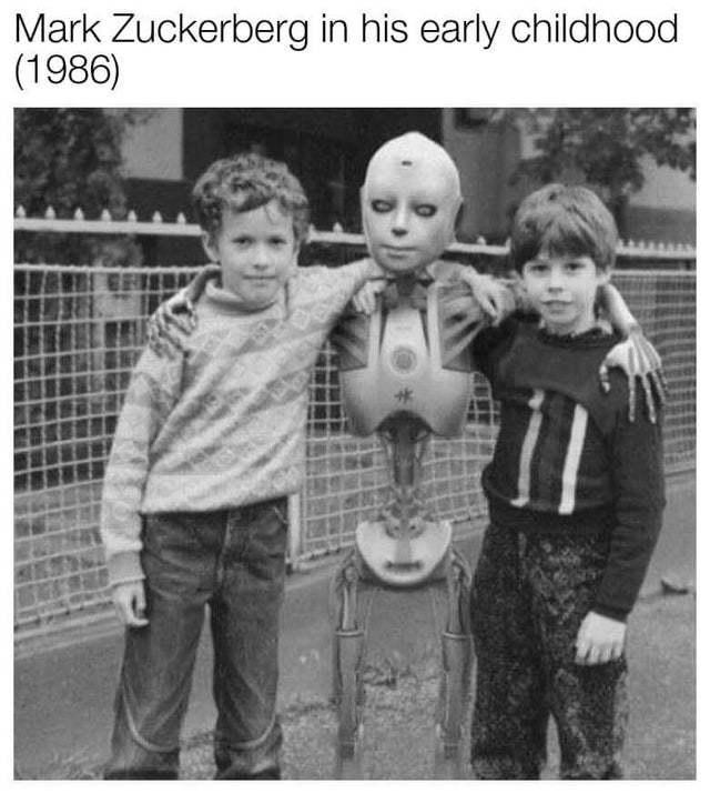 Mark Zuckerberg in his early childhood - meme