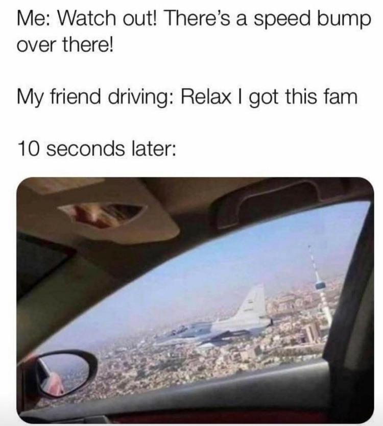 speed bump - meme