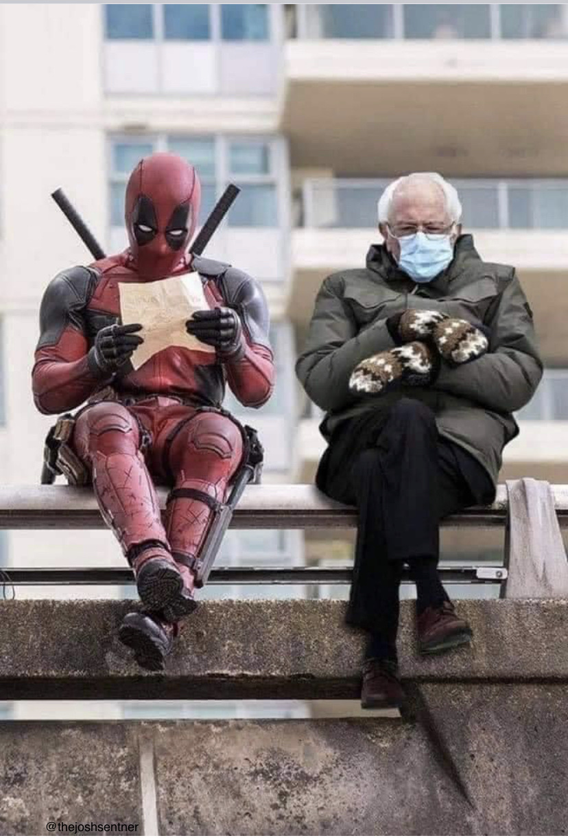 Deadpool & Bernie - meme