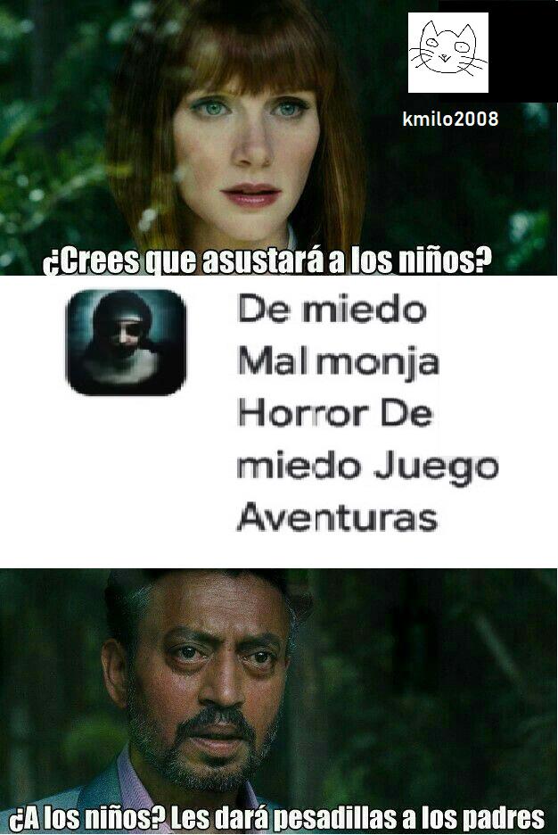 De miedo Mal monja Horror De miedo Juego Aventuras - meme