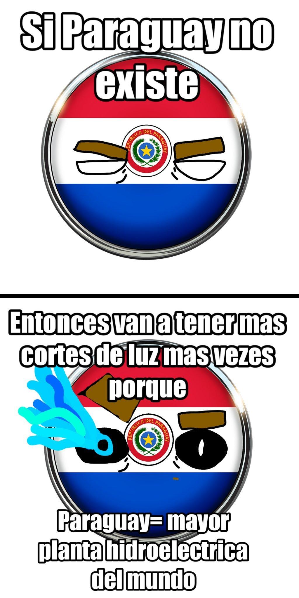 Paraguay si existe y si se burlan de los paraguayos que reclaman ya van a ver - meme