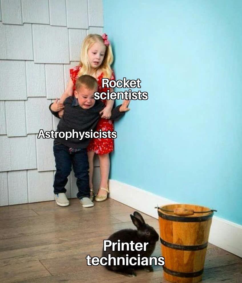 Printer cartridges are dumdum - meme