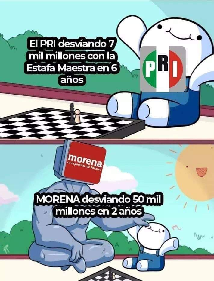 Politica Mexicana be like - meme