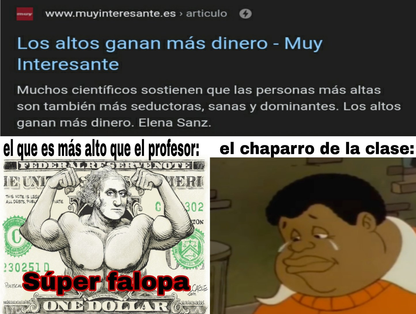 Yo como que soy estatura normal - meme
