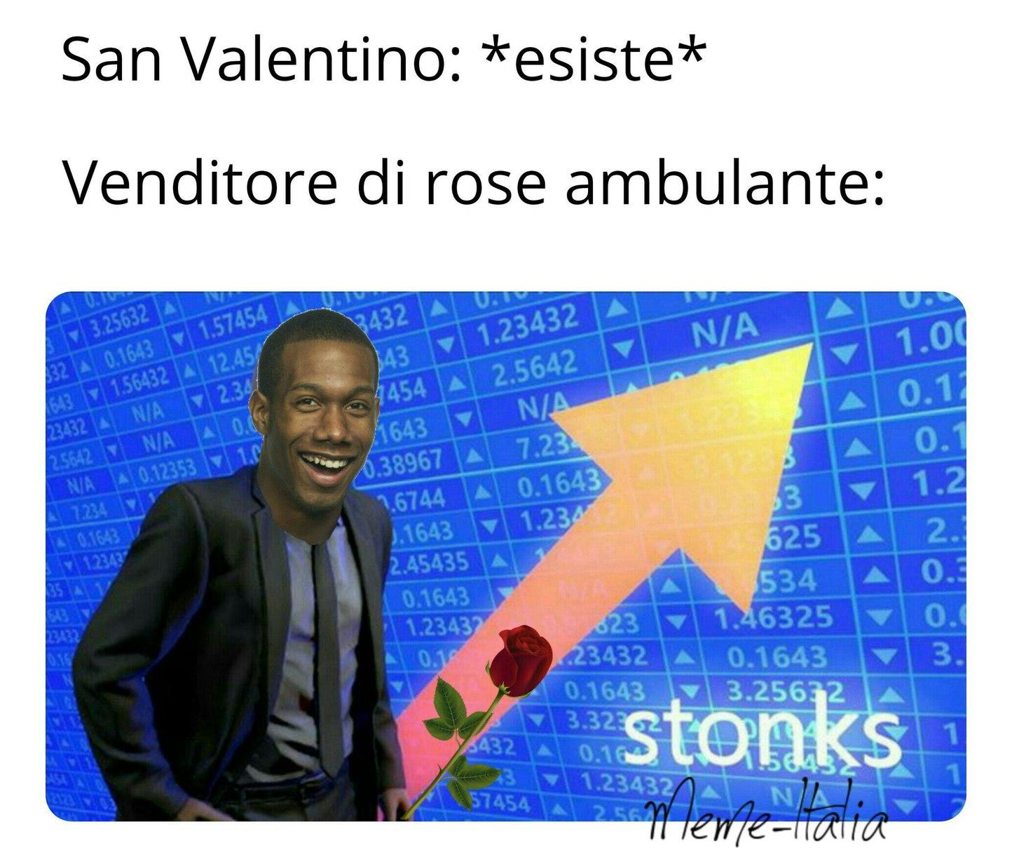 Volere tu una rosa? - meme