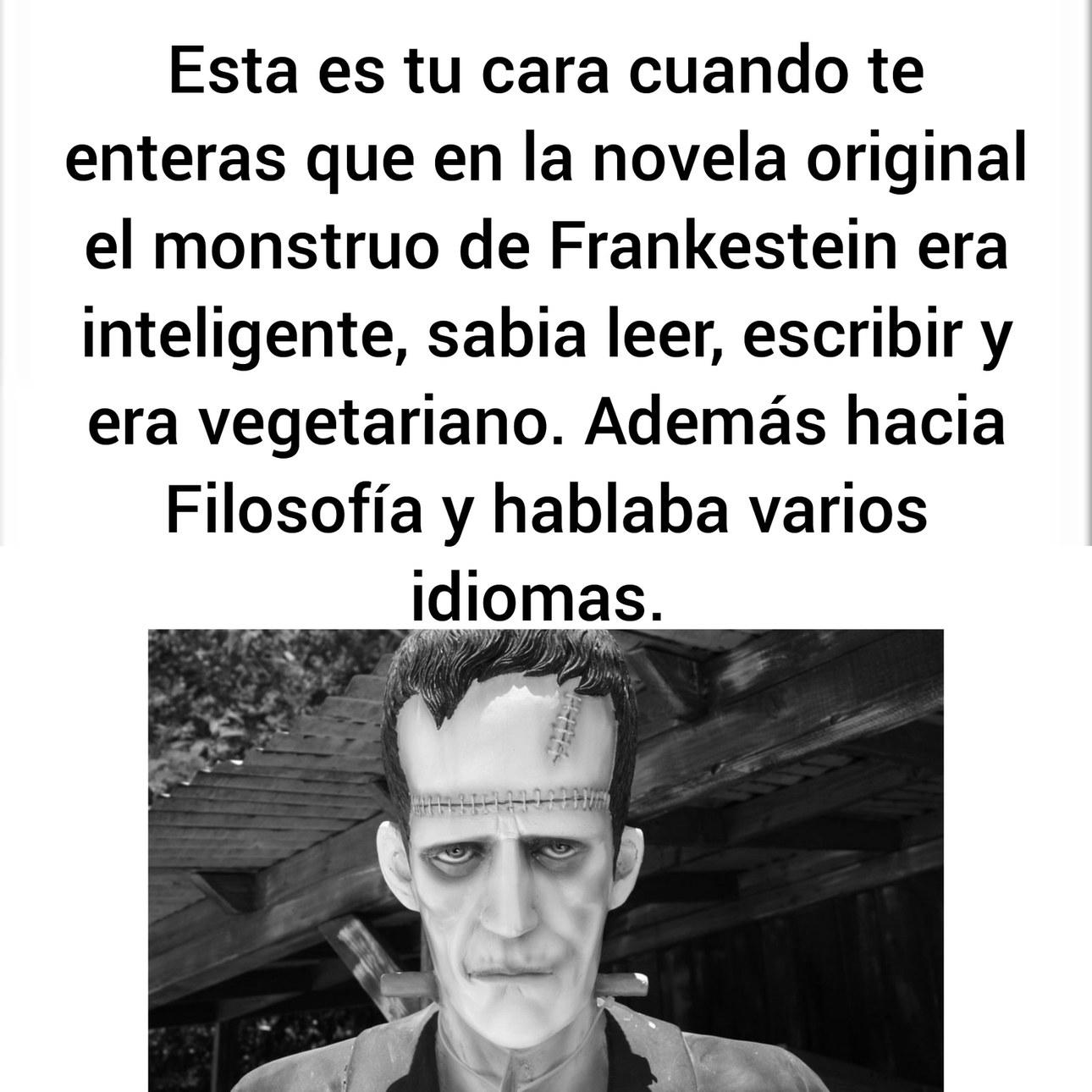 El monstruo no tenía nombre, Frankestein era su creador - meme