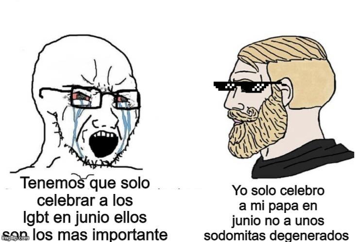 Vivan Los papas - meme