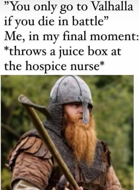 For Valhalla! - meme