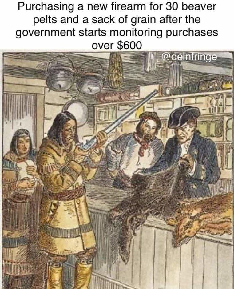 Bartering = Freedom - meme