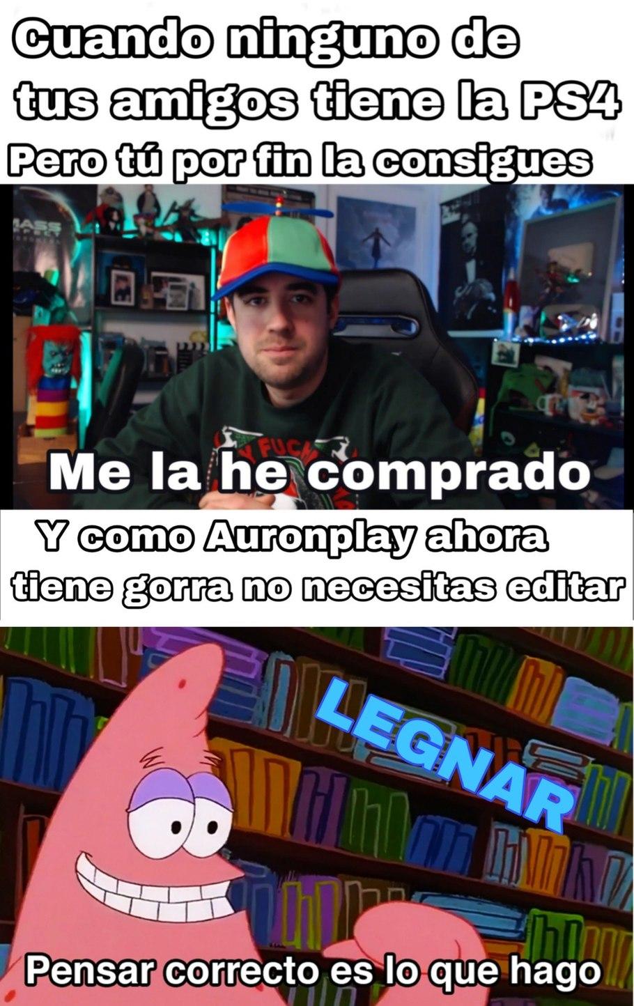 Plantilla de Auron Niño gratis - meme