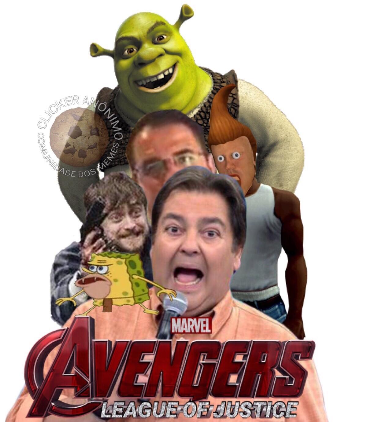 Vingadores: Liga da Justiça - meme